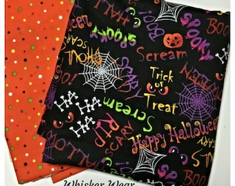 halloween pet bandana~ reversible bandanas~spooky gear~halloween pet wear~ 2 in1 pet wear~ cat bandana~dog bandana~ halloween wear