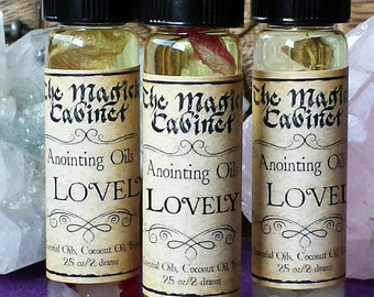 Lovely Perfume Oil, Love Ritual Oils, Witchcraft Oils, Witch Oils, Witchcraft Supply, Wicca Supplies, Anointing Oil, Apothecary