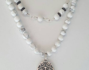 Mala inspired double wear necklace