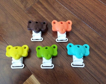 Silicone Elephant Clip-Single or Lot of 5