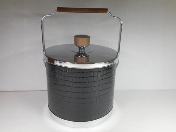 Wonderful Items Similar To Vintage ATAPCO Ice Bucket....Mid Century Modern Black Ice  Server...Retro Barware... On Etsy
