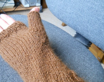 pure baby alpaca fingerless gloves