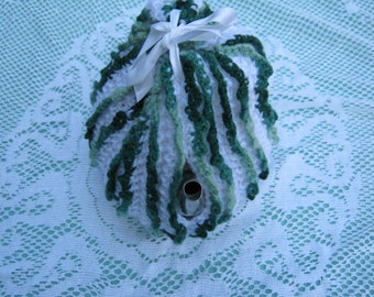 Vintage Tea Cozy- Green and White Stripes - Vintage Style for your teapot.