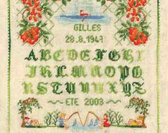 Embroidery Kit, miniature embroidery embroidery alphabet August ladies happiness