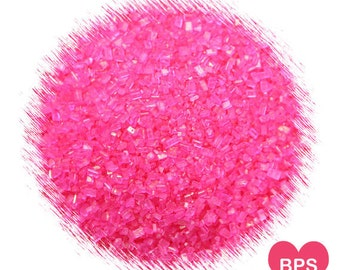 Bright Pink Sparkling Sugar, Hot Pink Sprinkles, Valentine's Day Sprinkles, Pink Party Sprinkles, Edible Sprinkles, Cookie Sprinkles