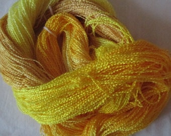 Handpainted Yarn-Soft Rayon Boucle Sport Wt. - 375 yds - BRIGHT IDEA