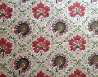 "Vintage 1950s ""Waverly Bonded Glosheen"" Cotton Fabric - By the Yard - Fabric Yardage / Vintage Yardage / Cotton Fabric / 1950s Fabric / 50s"
