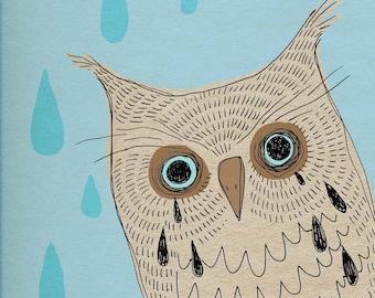 "Digital Print of Hand Drawn Art - ""Boo Hoot Owl"""