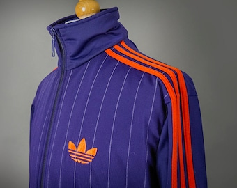 Retro 80's Style ADIDAS Coat, Retro 80's Style Adidas Track Jacket, Retro 70's Style Adidas Track Jacket, FREE SHIPPING to Canada and U.S.A