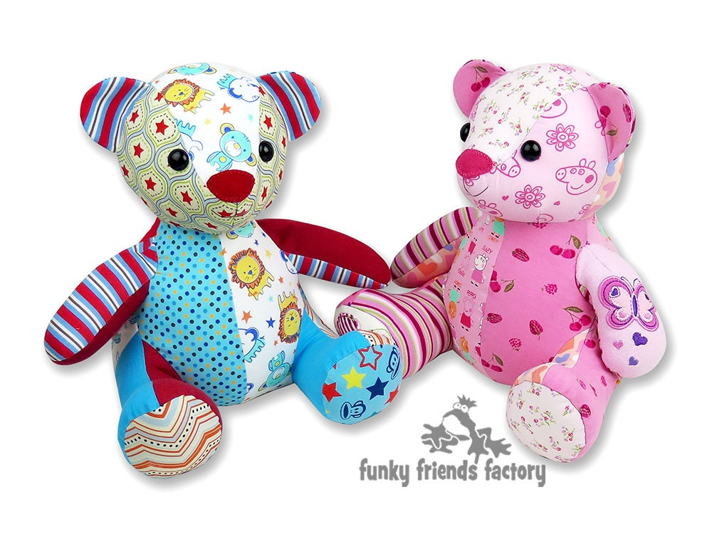 Melody MEMORY BEAR Keepsake Toy Instant Download Sewing