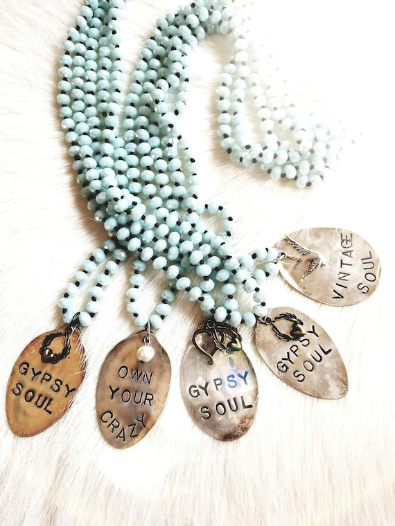 Vintage Re-purposed and Stamped Spoon Necklaces