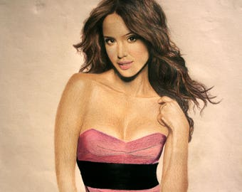 Jessica Alba color pencil