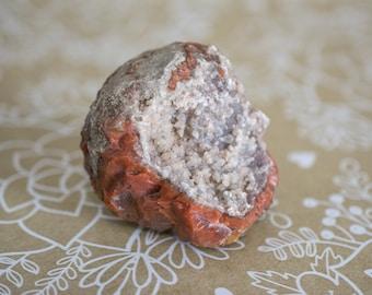 Orange Stone w/ Calcite Crystals