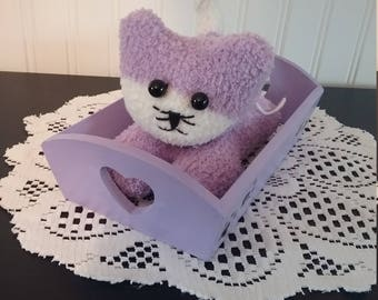Purple Sock Animal (w/bed)
