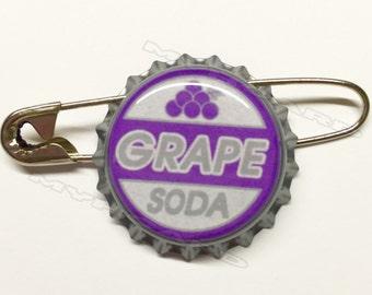 Ellie Badge Inspired Grape Soda Pin Bottlecap Up
