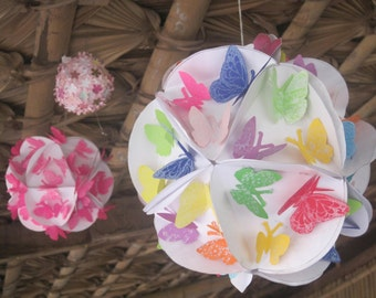 30 Upcycled Paper Butterflies for weddings, birthday, parties, cards, invitations, school projects Stickers  Ready to use
