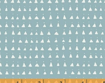 Whisper - Triangles Blue by Victoria Johnson from Windham Fabrics
