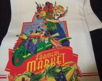 Farmer's Market Flour Sack Towel, Vibrant Colors