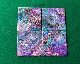 Love purple coasters