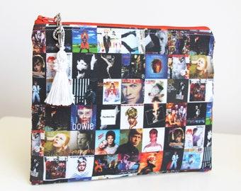 David Bowie Jewelry Pouch Pencil Case Organizer