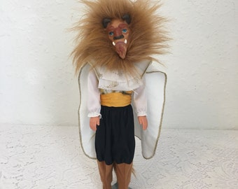 Beast from Beauty and the Beast, Disney Doll, Vintage Barbie, Prince Adam, Transforming Beast