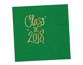 Graduation Napkins | GREEN & GOLD (in-stock)