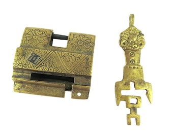 Tibetan Lock & Key, 1 set