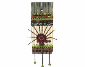 imaginative art - OOAK - mixed media art - quirky porcupine art - porcupine