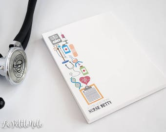 Nurse Personalized Notepad/ Doctor Gift/ Medical Notepad