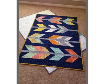 Arrow Feather Quilt Pattern (crib size)
