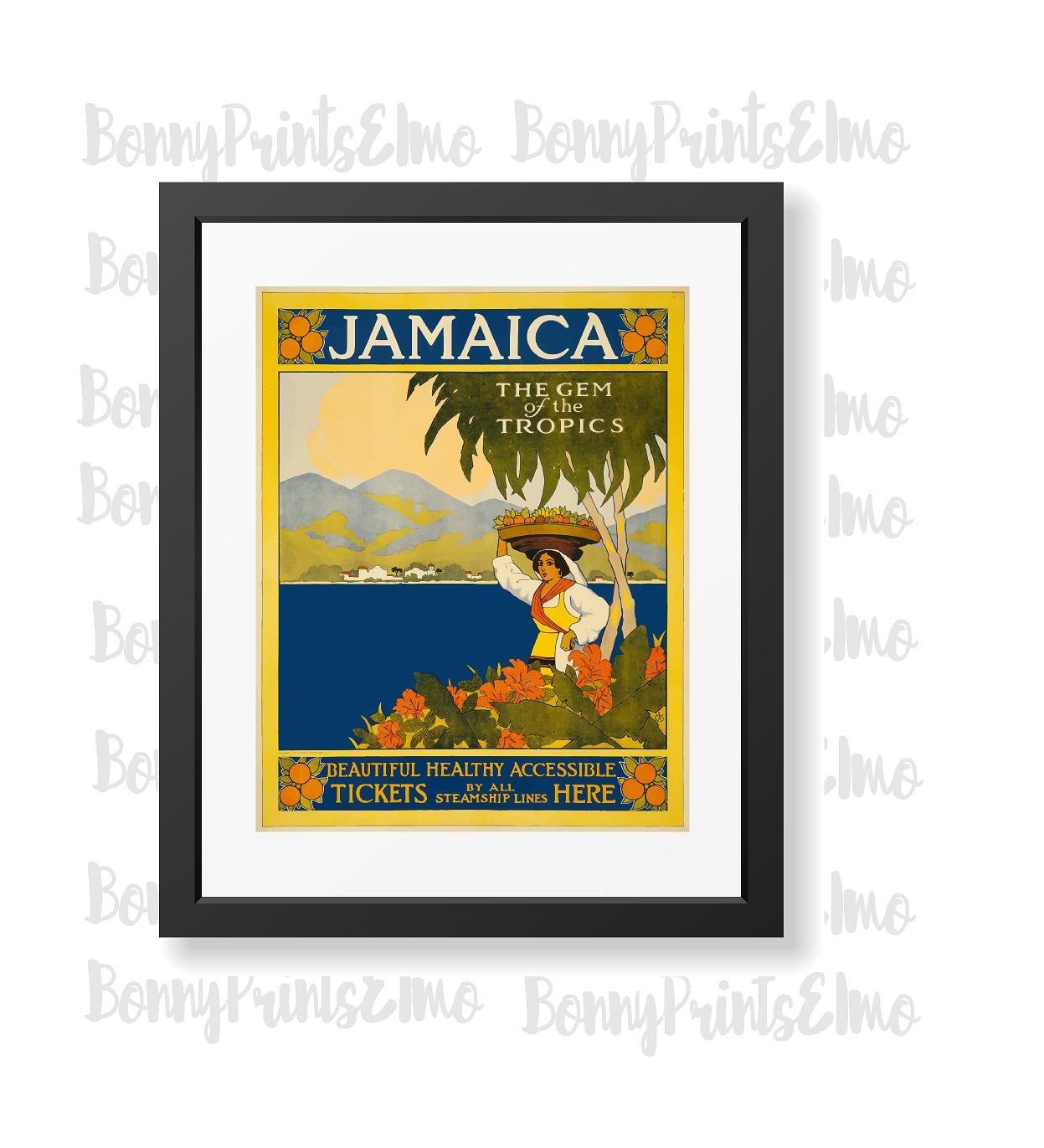 Jamaica Travel PosterJamaica Tourism Jamaica Wall