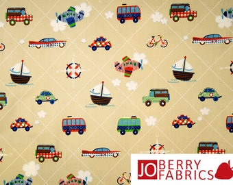 Toy Vehicles Fabric, Simply Sweet by Lief! Lifestyle for Quilting Treasures, Quilt or Craft Fabric, Fabric by the Yard