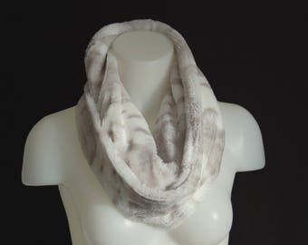 Faux Fur, Infinity Scarf, Soft Scarf, Ladies Scarves, Gift for Her