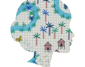 LAGOON /Lucy and Mabs Reusable pad or pantyliner / Made to Order