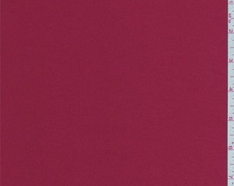 Scarlet Red Stretch Satin, Fabric By The Yard