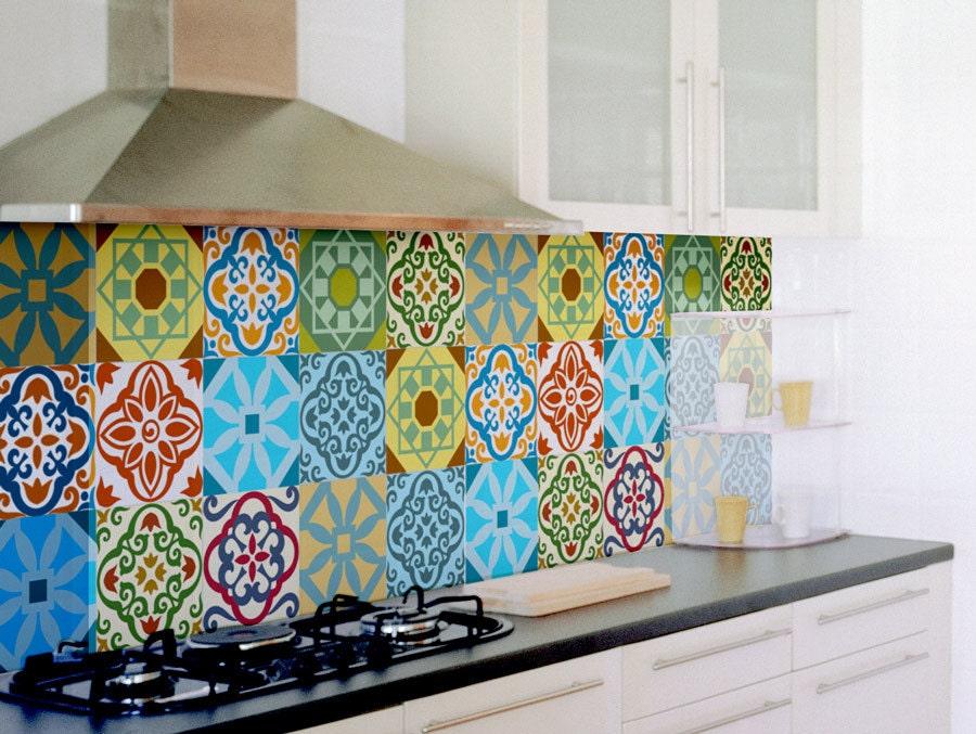 Fliesenaufkleber SET von 15 Fliesenaufkleber für Küche