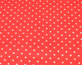 Oilcloth soft points red coated cotton