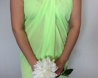 Lime sarong, swimsuit cover, pareo, sundress