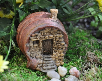 Fairy House in a Cup+Fairy Garden Accessory+Fairy Garden Supply+Fairy Garden Sculpture+Fairy Garden Miniature