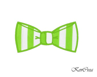INSTANT DOWNLOAD bowtie applique Machine Embroidery Design -  Instant Download - 3 sizes
