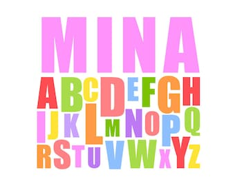 Printable Baby Name Alphabet Design