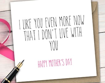Mother's Day Greetings Card, Sweet, Heart Warming, Fun for Mothers Day Comedy Daughter Son M13