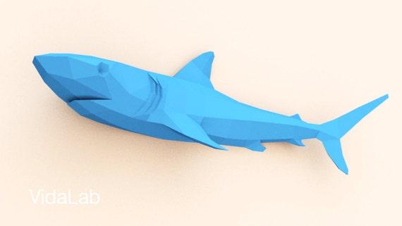 Shark Shark Paper Shark Lowpoly Shark Lover Origami Shark