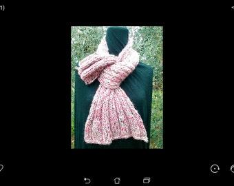 Pink soft wool scarf