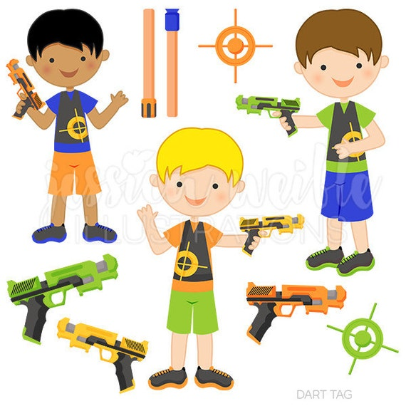 dart tag cute digital clipart for commercial or personal use rh etsy com Laser Tag Gun Cake Small Laser Tag Gun Art