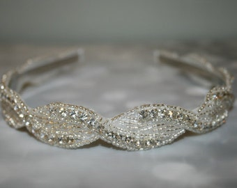 Wedding Headband, Wedding, Rhinestone Headband, Wedding Hair Accessory, Bridal Accessories- BAYLEE