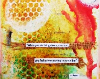 Rumi Mixed Media Art Canvas Print