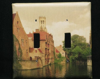 Double Switchplate Cover - Old World Bruges (Brugge)