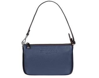 Evening Bag Leather Bag Italy Leather Handbag Blue BARI for Women by FERDINAND SABAC. Genuine Italian Leather Cross Body Bag Shoulder Bag