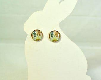 Bunny Post Earrings Dynamic Dutchie Duo - Pet Bunny Rabbit Jewelry - Bunny Earrings -Dutch Rabbit Earrings - Woodland Animal - Bunny Jewelry